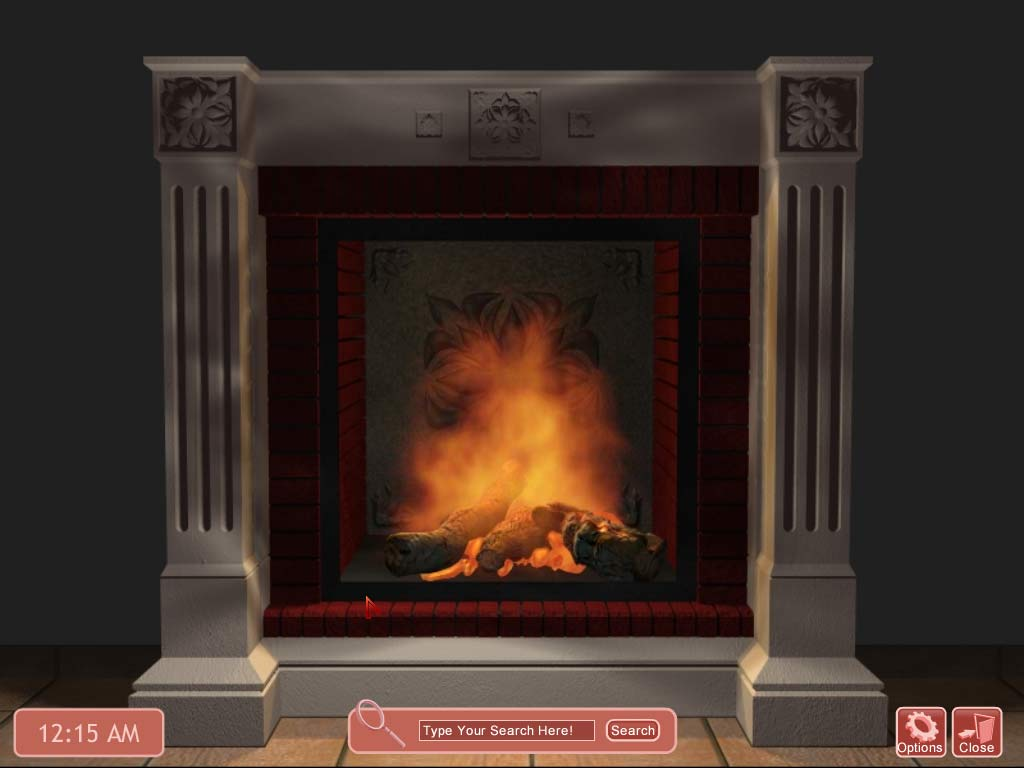 fireplace screensaver with sound